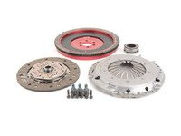 ES#2826530 - 10105060509K - 228mm lightweight aluminum flywheel and OEM vR6 clutch upgrade kit - Comes with Pressure plate, Clutch Disc, Throw-out Bearing, related hardware - Autotech - Volkswagen