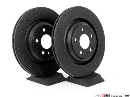 ES#2153584 - GD1520 - Rear Dimpled & Slotted Brake Rotors - Pair (330x22) - Upgrade your stopping power - EBC - Audi