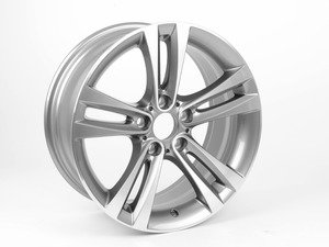 "ES#2530571 - 36116796247 - 18"" Double Spoke Style 397 Wheel - Priced Each - 18x8 ET34 72.6mm CB, with gloss finish - Genuine BMW - BMW"