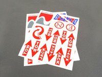 ES#2839750 - E30 - Safety Sticker and Decal Kit - Meets the requirements of most racing organizations - Rennline - Audi BMW Volkswagen Mercedes Benz MINI Porsche