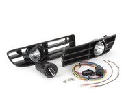 ES#10362 - 1j0998010 - Bumper Fog Light Kit - With Euro Switch - Kit includes bulbs, grilles with fog housings, harness, and European headlight switch with option for front fog lights - ECS - Volkswagen