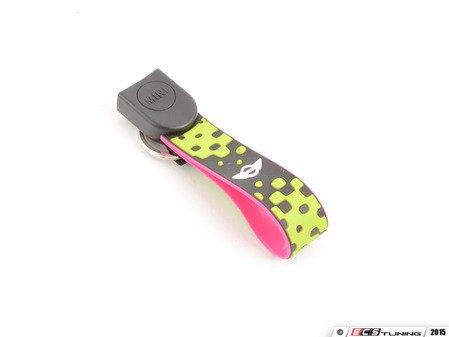 ES#2715092 - 82292353330 - Key Chain Lanyard - Vivid Green - Rubberized lanyard for your MINI key fob - Genuine MINI - MINI