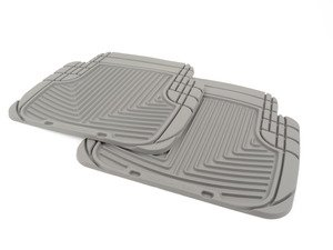 ES#2193955 - W50GR - Rear All-Weather Floor Mats - gray - All-weather protection to endure the harshest conditions - WeatherTech - Audi BMW Volkswagen Porsche