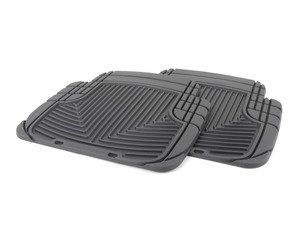 ES#2193953 - W50 - Rear all-weather floor mats - Black - All-weather protection to endure the harshest conditions - WeatherTech - BMW Volkswagen Porsche