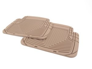 ES#2193956 - W50TN - Rear All-Weather Floor Mats - Tan - All-weather protection to endure the harshest conditions - WeatherTech - BMW Volkswagen