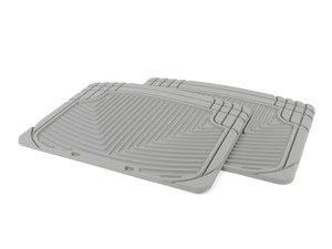 ES#2193947 - W20GR - Rear All-Weather Floor Mats - Grey - All-weather protection to endure the harshest conditions - WeatherTech - Audi BMW Volkswagen Porsche