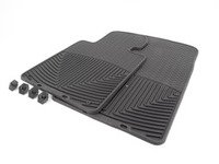ES#2194889 - W24 - Front All-Weather Floor Mats - Black - All-weather protection to endure the harshest conditions - WeatherTech - BMW Porsche