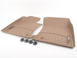 ES#2837741 - 450401 - Front FloorLiner DigitalFit - Tan - Laser measured for perfect fitment and ultimate protection against moisture and debris - WeatherTech - BMW