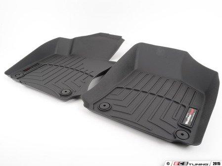 ES#2837652 - 442691 - Front FloorLiner DigitalFit - Black - Laser measured for perfect fitment and ultimate protection against moisture and debris - WeatherTech - Volkswagen