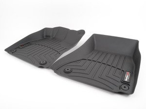 ES#2837615 - 442121 - Front FloorLiner DigitalFit - Black - Laser measured for perfect fitment and ultimate protection against moisture and debris - WeatherTech - Audi