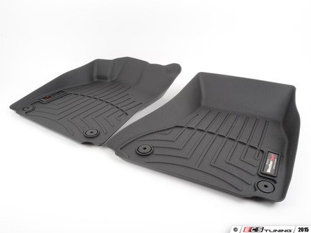 ES#2837615 - 442121 - Front FloorLiner DigitalFit - Black - Laser measured for perfect fitment and ultimate protection against moisture and debris - WeatherTech - Audi
