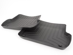 ES#2837612 - 441942 - Rear FloorLiner DigitalFit - Black - Laser measured for perfect fitment and ultimate protection against moisture and debris - WeatherTech - Audi
