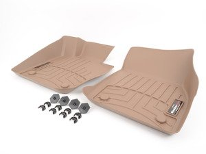 ES#3460076 - 4510891 - Front FloorLiner - Tan  - Laser measured for perfect fitment and ultimate protection against moisture and debris - WeatherTech - BMW