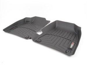 ES#2837611 - 441941 - Front FloorLiner DigitalFit - Black - Laser measured for perfect fitment and ultimate protection against moisture and debris - WeatherTech - Audi