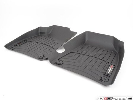 ES#2837611 - 441941 - Front FloorLiner DigitalFit - Black - Laser measured for perfect fitment and ultimate protection against moisture and debris - WeatherTech - Audi