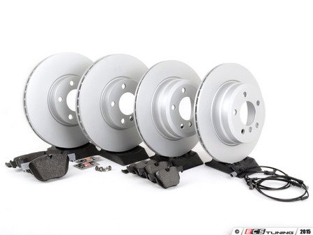 ES#2857553 - 342167932471KT - Front And Rear Brake Service Kit - Featuring Pagid pads and coated rotors - Assembled By ECS - BMW