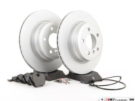 ES#2857580 - 342167932471KT2 - Rear Brake Service Kit - Featuring Pagid pads and coated rotors - Assembled By ECS - BMW