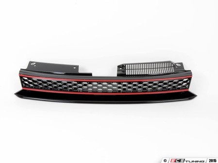 ES#2872998 - 21-9558raKT - Badgeless Grille - Black With Red Strips - Fill the notch left in your hood when installing a badgeless grille - ECS - Volkswagen