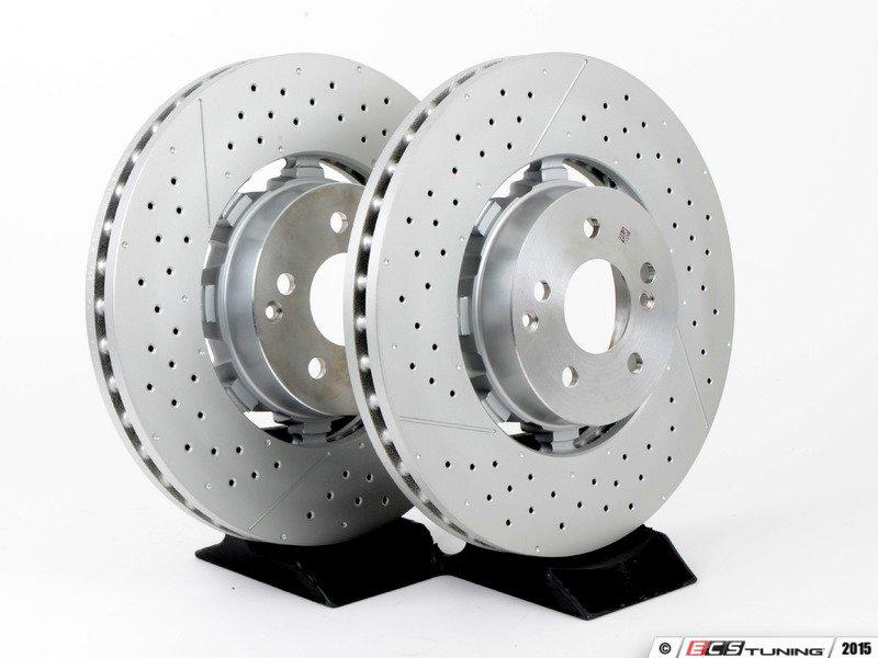 Genuine mercedes benz 2124210512 front brake rotors pair for Mercedes benz rotors