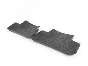 ES#2837627 - 442302 - Rear FloorLiner DigitalFit - Black - Laser measured for perfect fitment and ultimate protection against moisture and debris - WeatherTech - Audi