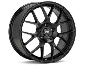"ES#2984757 - 467-880-4445BKkt - 18"" Raijin Wheels - Set of four - 18""X8"" ET45 57.1CB 5x112 Matte Black - Enkei Wheels - Audi"