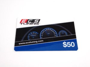 ES#1896893 - GC50 -  ECS Gift Card - $50 - The perfect gift for every car enthusiast any time of the year - ECS Gift Cards - Audi BMW Volkswagen Mercedes Benz MINI Porsche