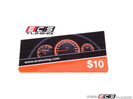 ES#1896891 - GC10 -  ECS Gift Card - $10 - The perfect gift for every car enthusiast any time of the year - ECS Gift Cards - Audi BMW Volkswagen Mercedes Benz MINI Porsche