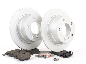 ES#2837214 - 34216758552KT - Rear Brake Service Kit - Featuring Meyle Platinum rotors and Vaico pads - Assembled By ECS - BMW