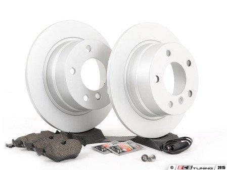 ES#2837214 - 34216758552KT - Rear Brake Service Kit - Featuring Meyle Platinum rotors and Vaico pads - Assembled By ECS - BMW