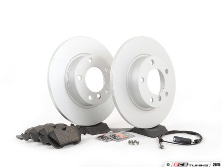 ES#2795772 - 34116757751KT3 - Front Brake Service Kit  - Featuring Meyle coated rotors and Brembo pads - Assembled By ECS - BMW