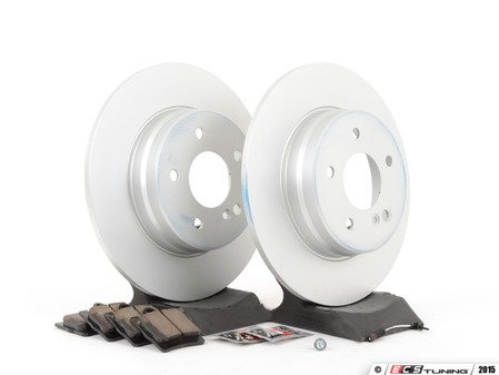 ES#2770032 - 210423101264KT7 - Rear Brake Service Kit - Featuring ATE Rotors And Akebono-Euro Ceramic Pads - Assembled By ECS - Mercedes Benz