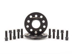 ES#2863233 - 002403ECS02AKT3 - Wheel Spacer & Bolt Kit - 12.5mm with Black Ball Seat Bolts - Includes everything you need to install spacers on two wheels - ECS - Audi Volkswagen