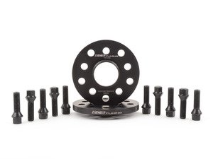 ES#2863234 - 002403ECS02AKT4 - Wheel Spacer & Bolt Kit - 12.5mm with Black Conical Seat Bolts - Includes everything you need to install spacers on two wheels - ECS - Audi Volkswagen