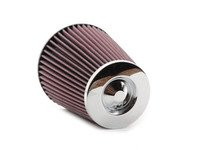 """ES#3167259 - RC-4700 - Universal Air Filter - Red - Replacement filter with 3.0"""" inlet. Chrome top. - K&N - Volkswagen"""
