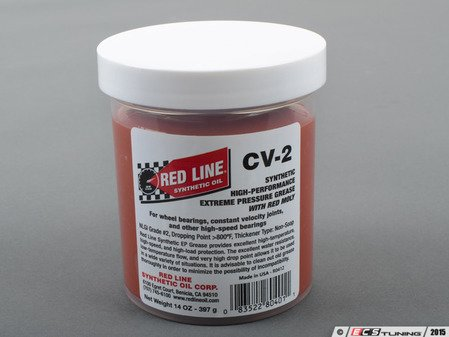 ES#2848013 - 80401 - CV-2 Grease with Moly - 14oz  - High performance grease for multiple applications - Redline - Audi BMW Volkswagen Mercedes Benz MINI Porsche