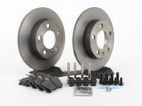 ES#2763186 - 1J0698014KT -  Rear Brake Service Kit (232x9) - Featuring Brembo rotors and Hawk HPS pads - Assembled By ECS - Audi Volkswagen