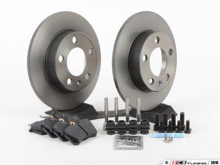 ES#2763186 - 1J0698014KT -  Rear Brake Service Kit (232x9) - Featuring Brembo rotors and Hawk HPS pads - Assembled By ECS - Audi Volkswagen