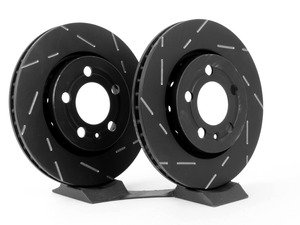 ES#523017 - USR931 - rear Slotted Brake Rotors - Pair (256x22) - Upgrade to a slotted rotor for improved braking - EBC - Audi Volkswagen