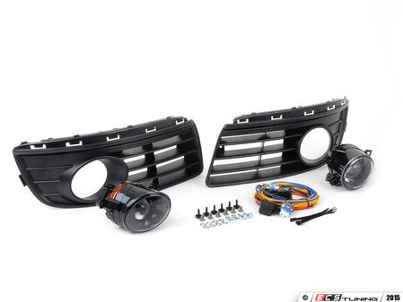 ES#2838961 - 1K0998012KT - Fog Light Conversion Kit - ZiZa Brand Projector - Complete kit to install fog lights on your Jetta, a 37 piece kit - Assembled By ECS - Volkswagen