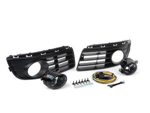 ES#2838988 - 1K0998002KT1 - Fog Light Conversion Kit - Non Projector - Complete kit to install fog lights on your Jetta, a 37 piece kit - Assembled By ECS - Volkswagen