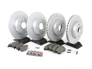 ES#2762497 - 2044212812KT6 - Front & Rear Brake Service Kit - Featuring Meyle Rotors And Pads - Assembled By ECS - Mercedes Benz