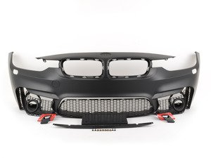 ES#2794877 - F30m3ft - M3 Front Bumper Conversion - With Fog Light Grilles - Add the look of the M3 to your 3-Series - ECS - BMW