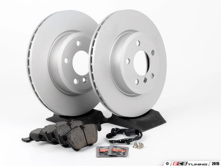 ES#2862824 - 804322196441KT - Front Brake Service Kit - Featuring Pagid coated rotors and Akebono pads - Assembled By ECS - BMW