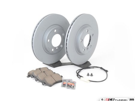 ES#2804125 - 341198048294KT19 - Front Brake Service Kit - Featuring Zimmerman rotors and Akebono pads - Assembled By ECS - MINI