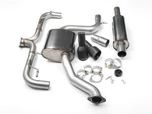 """ES#2828238 - SSXVW229 - 3"""" Cat-Back Exhaust System - Resonated - Get that Exhaust tone you've been looking for! Features 3"""" construction with 4"""" Matte Black """"GT100"""" style tips. - Milltek Sport - Volkswagen"""