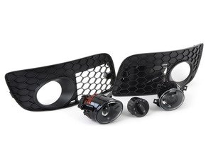 ES#252719 - OPNZZAFOG - Projector Fog Light Conversion Kit - With Open Honeycomb Grilles - Convert your standard fogs to projector style, featuring Ziza projector fog lights with 9006 bulbs. - Assembled By ECS - Volkswagen