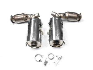 """ES#2827894 - SSXPO021 - Turbo-Back Exhaust System With 200-cell High-Flow Cats - 3"""" stainless steel exhaust for use with stock tips - Milltek Sport - Porsche"""