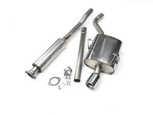 "ES#2827796 - SSXM001 - Cat-Back Exhaust System - Meteor - (NO LONGER AVAILABLE) - 2.13"" stainless steel with single 90mm Meteor polished tip - Milltek Sport -"