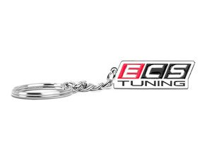 ES#2863517 - 013190ecs02a - ECS Logo Keychain - Red/Black - Key chain featuring the signature ECS Tuning logo. Perfect way to show off your love for ECS Tuning. - ECS - Audi BMW Volkswagen Mercedes Benz MINI Porsche