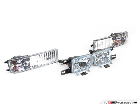 ES#248212 - FKRL5995 - Turn Signal & Fog Lights Assembly Set - Clear - Crystal Clear lights for the front of your MkIII bumper. - FK - Volkswagen
